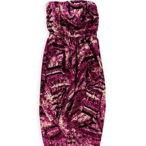 Bar lll Strapless Marble Print Dress...Sz: Large